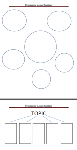 Inquiry graphic organizers