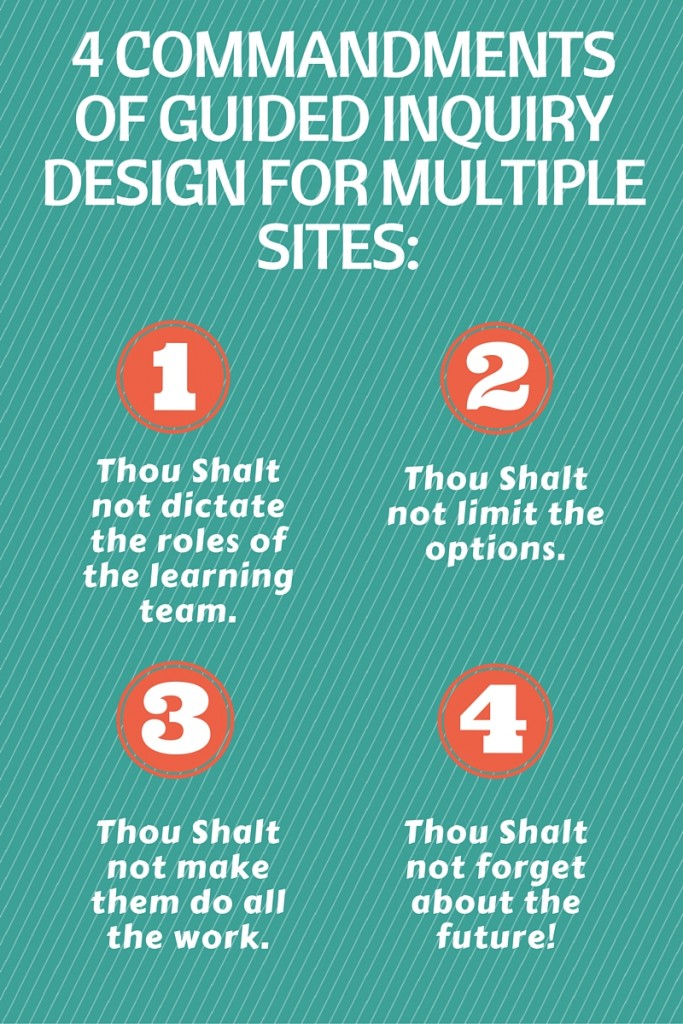 4 Commandments of Guided Inquiry Design for mutliple sites