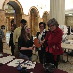 Students sharing their GID projects at Library Legislative Day in Boston.