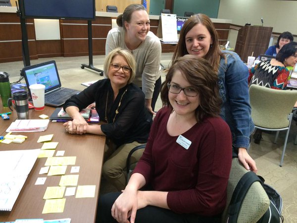 Team Ike planning away at the Guided Inquiry Institute!