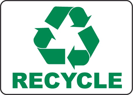 Photo credit http://www.safetysign.com/products/p7440/recycle-symbol-sign